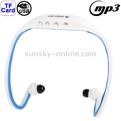 Sport MP3 Player Headphone with TF Card Reader Function, Music Format: MP3 / WMA