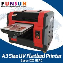 Funsunjet A3 Size DX5 Head dtg uv flatbed 3c products printer UV printer
