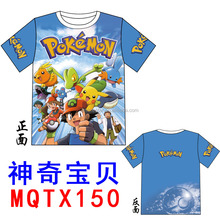 Popular Designs Pokemon Anime Cartoon Tshirts Print Pattern Wholesale Top Quality Comfortable T Shirt