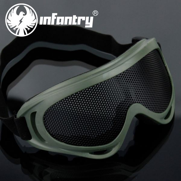 Infantry Army Military Expedition Black Men's Wind Goggles Anti-Fog Lens Eye Safety System Airsoft NEW
