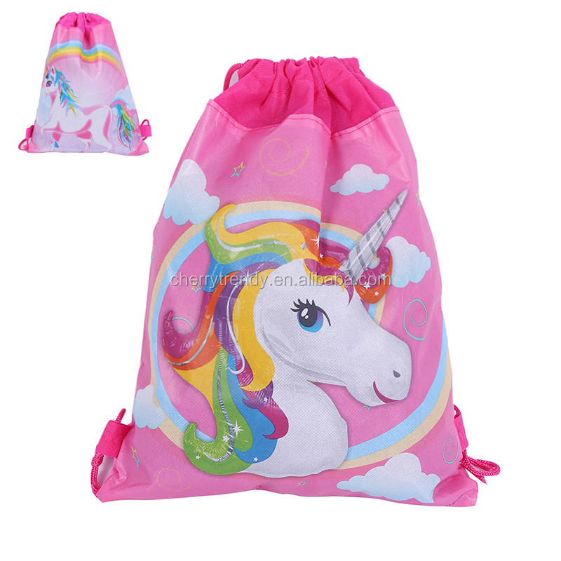Unicorn Drawstring Backpack Unicorn Party Favor Gift Bags