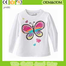 baby boy girl tee Colorful butterfly children's T-shirt white background t shirt 100% cotton tee