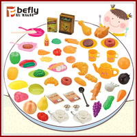 Mini vivid plastic food children pretend play kitchen toy