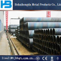 Spiral Welded API 5L Carbon Steel SSAW Pipe/Large diameter inner and outer plastic coated spiral steel pipe