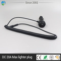 Connect charger car cigarette lighter plug with switch