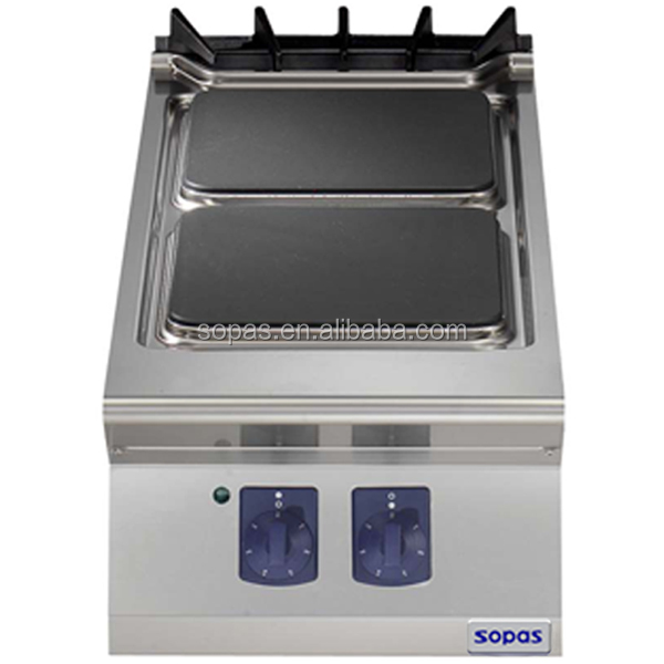sopas Commercial Cooking Range 900 series Electric Range 2 square hot plate