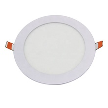 2019 Wholesale round recessed ultra slim white frame color 3w ceiling <strong>flat</strong> led panel light