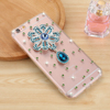 Luxury Handmade Diamond Phone Case for iPhone SE, Bling Bling Crystal Hard PC Cell Phone Case for iPhone SE Diamond Case