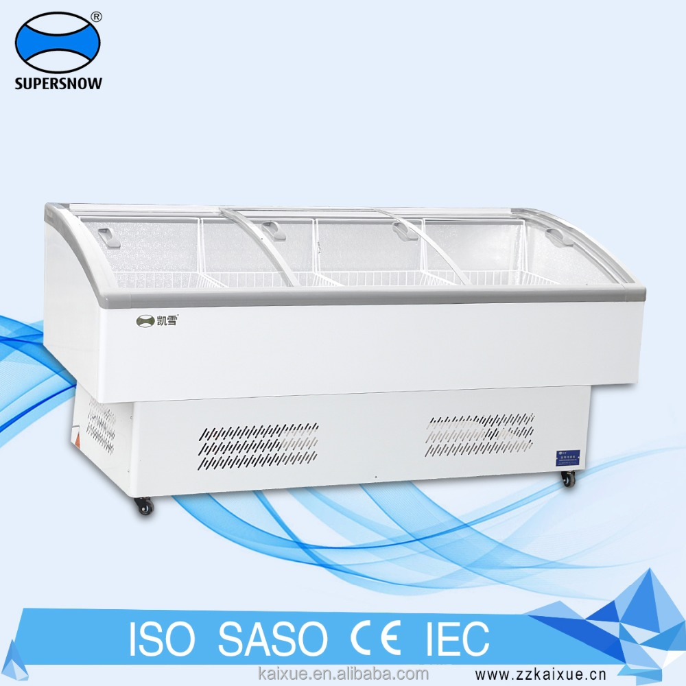 Wholesale General Lg Top Open Curved Glass Door Chest Freezer For Sale