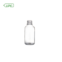 Recycled clear glass cosmetic essential oil sample bottle