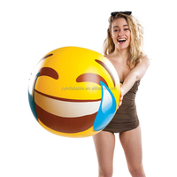 2016 Hot sale big mouth cry balls emoji inflatable beach balls
