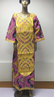 Top vente traditionnelle africaine bazin broderie conception robe