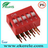 right angle dip switch connector piano switches 2.54mm pitch