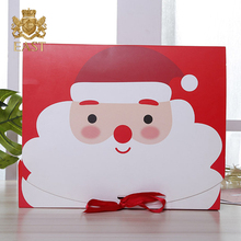 Oem Baby Blanket Paper Packing Premium Christmas Gift Box With Ribbon Closure