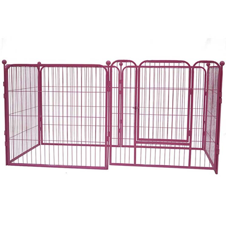 High quality material outdoor galvanised dog pen folding metal dog enclosure