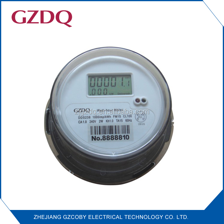 Round type LCD digital display FM1s 60Hz single phase electric meter