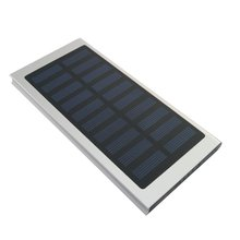 2017 Ultra Slim Solar Power Bank 20000mAh Portable Solar Charger Aluminum External Battery Backup Ultra Thin Solar Power bank