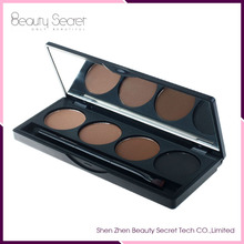 Manufacture OEM 4 color with brush waterproof eye brow powder with Brush and Mirror