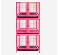 Wholesale Strong Stainless Steel Foldable Dog Cage Several Layers