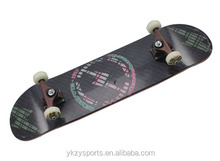 top quality new products of 7ply canadian maple wood deck flying skateboard with aluminum trucks