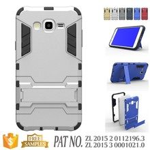Combo kickstand slim armor case for samsung galaxy j7