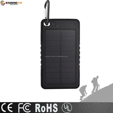 6000mAh outdoor solar power bank waterproof shockproof dustproof portable charger for mobile phone PSP MP4