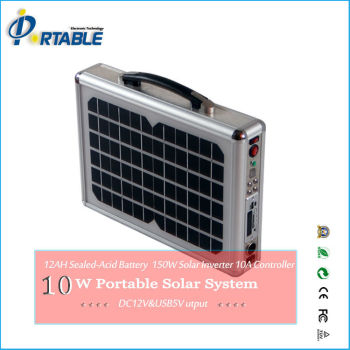 10W Portable Solar Power System with Entertaining Function