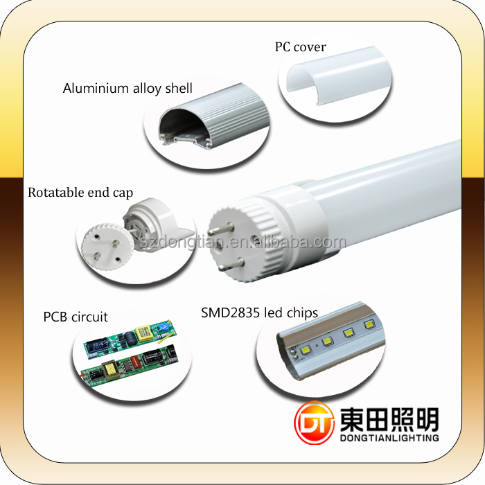 2015 general electric new design and high brightness 15W 4ft led tube lights 26mm*1200mm or 2400mm DTR831NW&WW
