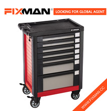 FIXMAN Lockable 7 Drawer Tool Roller Wheels Master Chest & Cabinet and Accessory