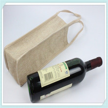 Jute bag manufacturers wholesale jute wine tote bag promotional bottle bag