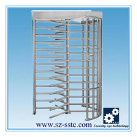 304Stainless steel full height turnstile mechanism outdoor
