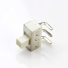 Toggle switch production SS - 12D06, bent feet, all white, large current switch