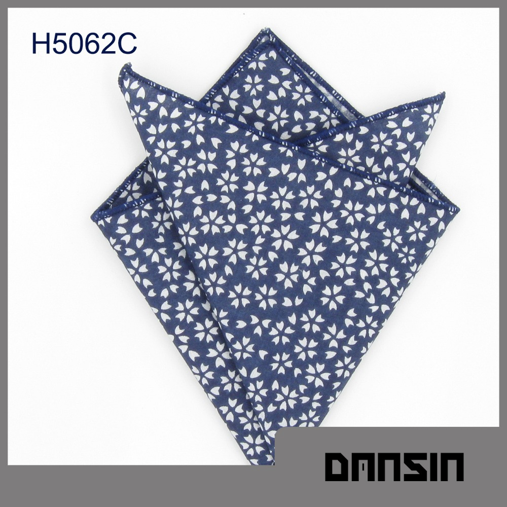 Fashion Designl High Quality Cotton Custom Pocket Square