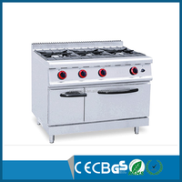 Commercial Kitchen Equipment 3 Burner Industrial Gas Cooker with CE