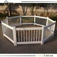High quality cheap vinyl/pvc/plastic outdoor children play fence