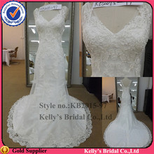 fashion new york dresses straps pieces lace appliqued beading memaid off white lace bridal wedding dress
