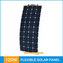 120 Watts 22% efficiency light weight and portable flexible solar panel charge for 12V battery