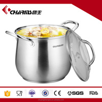 Charms large capacity stainless steel cooking pot/ soup pot/casserole pot