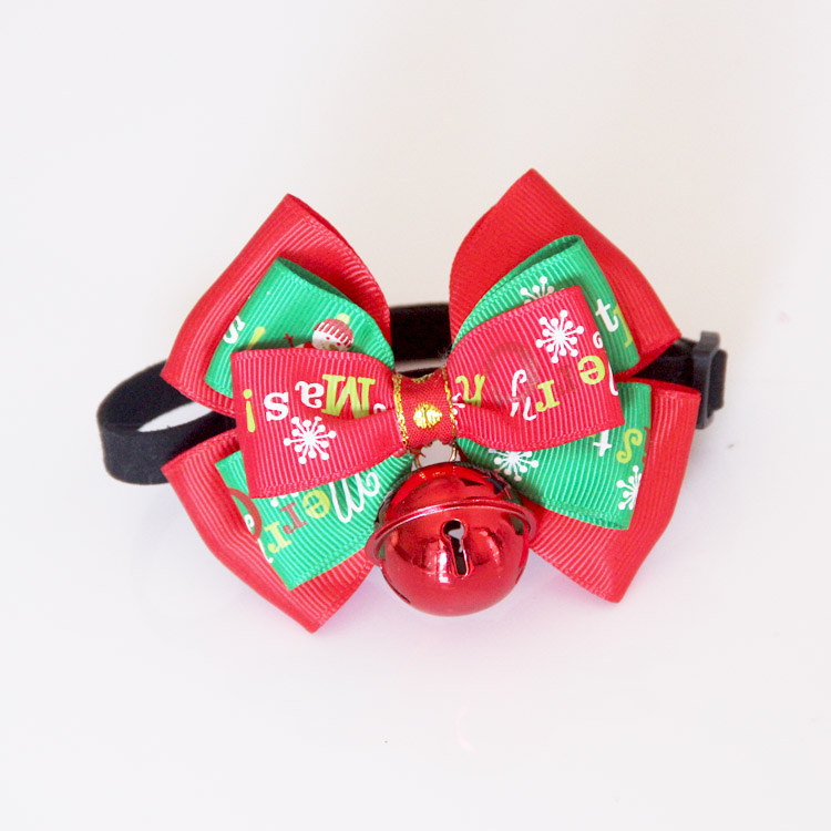 Dog Collar with Big Color Bell Cat Dog Bow Tie Factory Produce