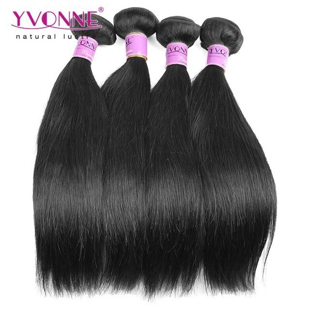 Natural color 1B grade 5A Virgin malaysian straight hair
