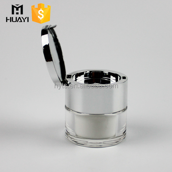 best design acrylic jar cosmetic empty packaging with mirror