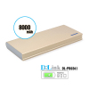 Factory supply good quality for mobile phone power bank 8000mah white
