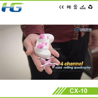 4CM Cheerson 4CH UFO 3D Rotating Micro 2.4G 6-Axis RC Mini Quadcopter CX-10 flying toy robot