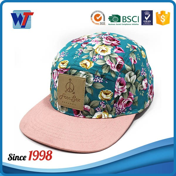 New fashion hawaii printing floral snapback cap hats