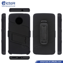 guangzhou victor electronic mobile phone accessories 3in1 PC TPU Robot kickstand case for MOTOROLA E4 PLUS