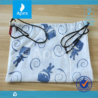 custom wholesale cotton fabric drawstring bag