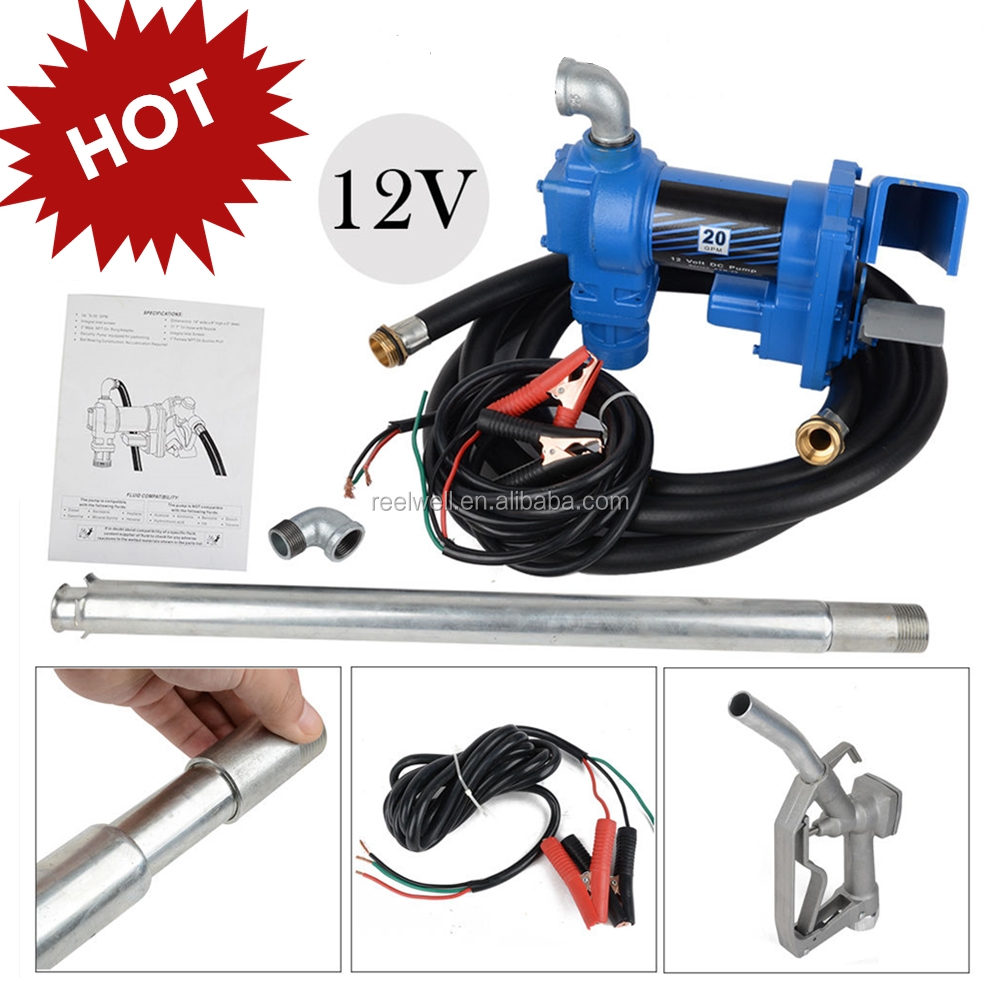 Gasoline Anti-Explosive Fuel Transfer Pump 12V DC 15GPM <strong>Diesel</strong> Gas Refill Kit