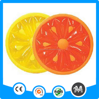Wholesale swimming fruit slice inflatable Watermelon and lemon float