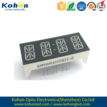 Excellent quality common cathode Red color 4 digit LED alphanumeric display