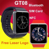 Christmas gift 1.54inches bluetotoh nfc three sim cards smart watch phone